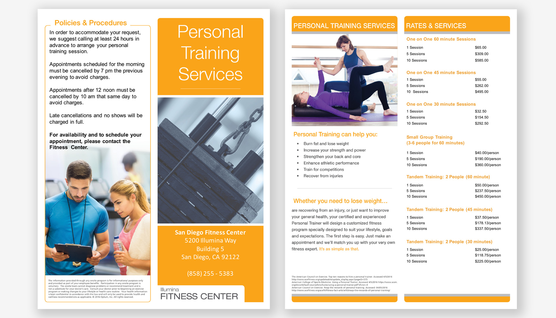 illumina-personal-training-brochure